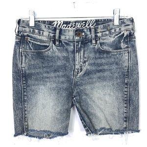 Madewell Cut Off Denim Shorts Light Wash
